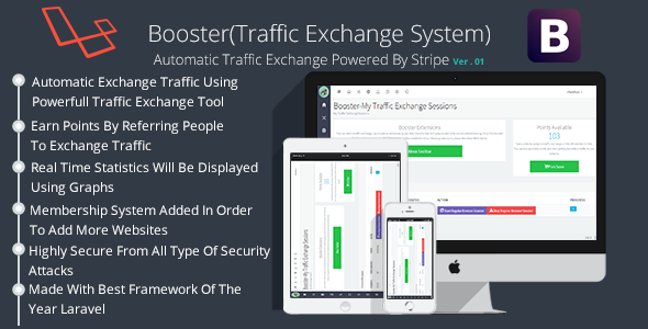 Booster Traffic Exchange System - CodeCanyon Item for Sale