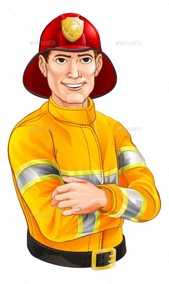 Fireman Cartoon - People Characters