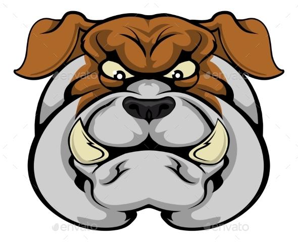 Bulldog Mascot Face - Animals Characters