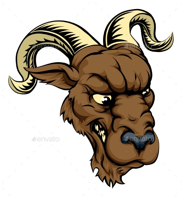 Ram Character Illustration - Animals Characters