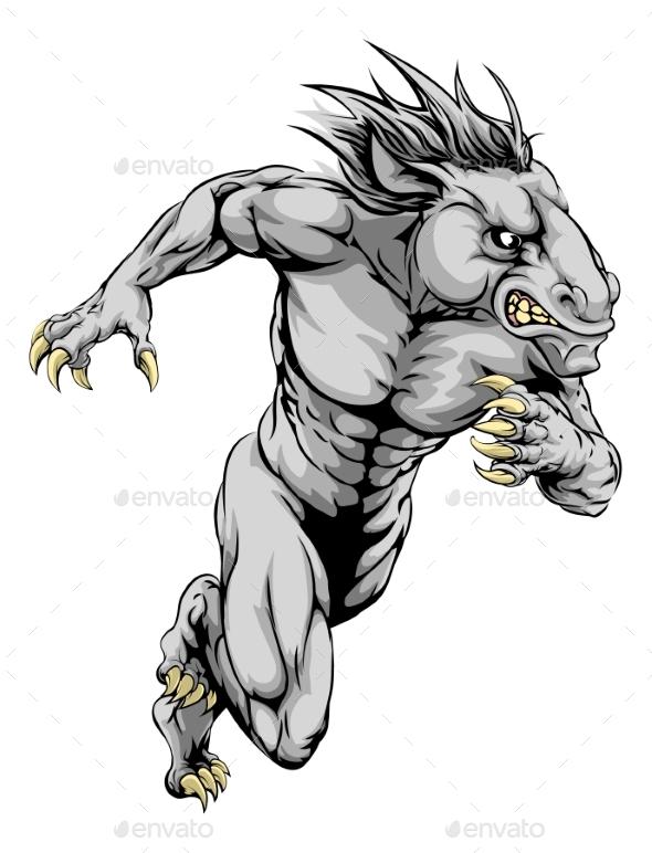 Horse Sports Mascot Running - Animals Characters