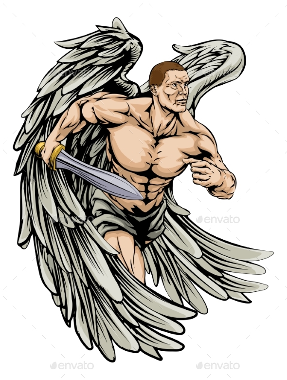 Warrior Angel Mascot - People Characters