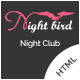 Night Bird - Night Club HTML Template - ThemeForest Item for Sale