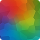 Vibrant Colorful Polygonal Background Nulled