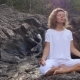 Young Girl Meditating in Mountain - VideoHive Item for Sale