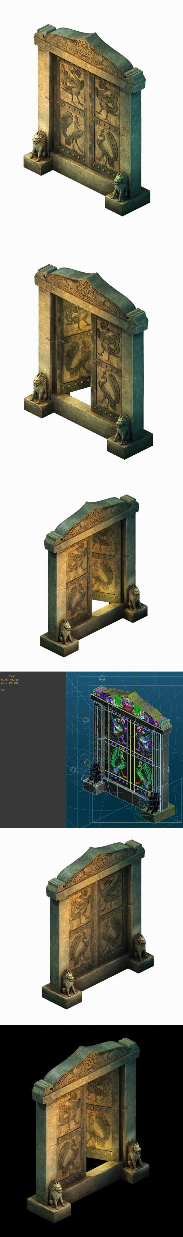 Game Model - Imperial tombs - 3DOcean Item for Sale
