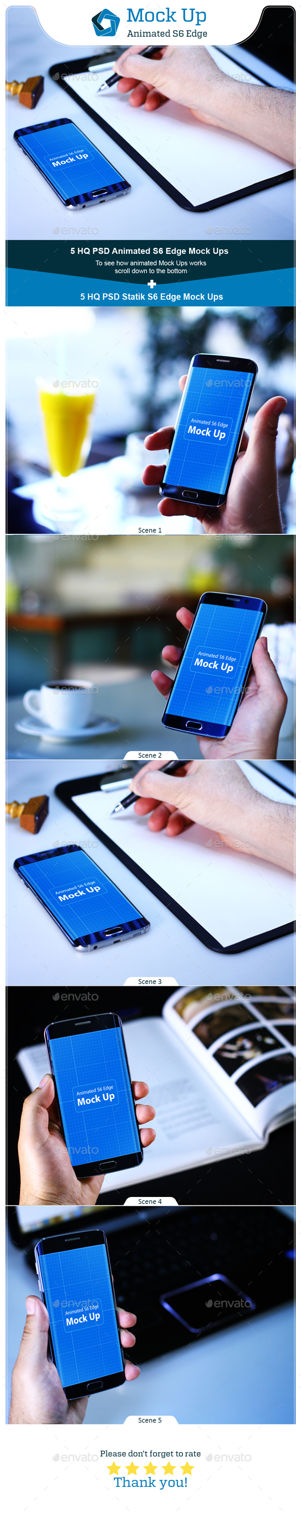 Animated S6 Edge MockUp V.1 - Mobile Displays
