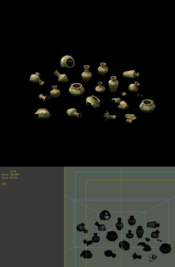 Game Model - Imperial Tombs  Funeral objects - 3DOcean Item for Sale