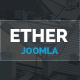Ether - One Page Joomla Template Nulled