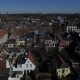 Aerial Footage of the City Roofs and Canal in Netherlands. Drone Flying Above Houses in Holland - VideoHive Item for Sale