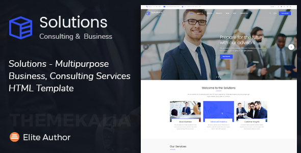 Solutions - Multipurpose Business, Consulting Services HTML Template - Business Corporate
