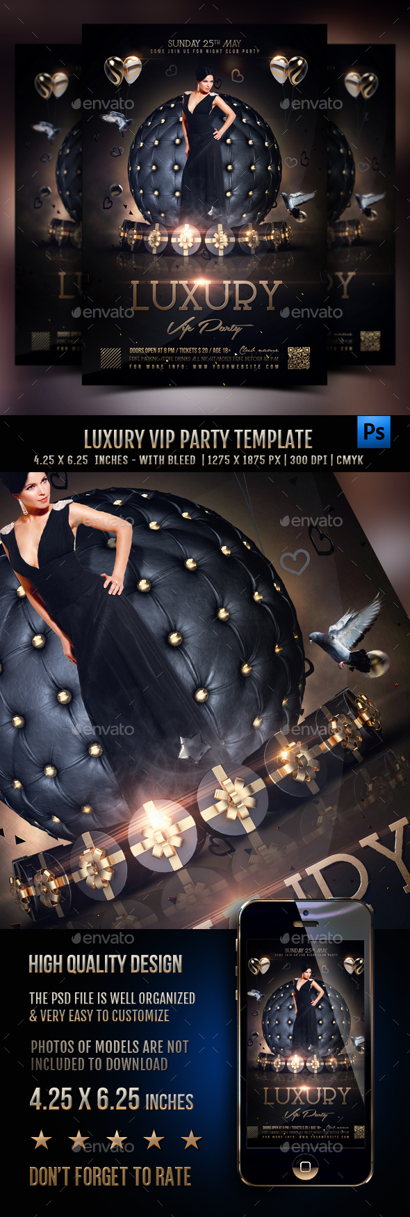 Luxury Vip Party Flyer Template - Clubs & Parties Events