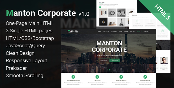 Manton – Corporate HTML Template