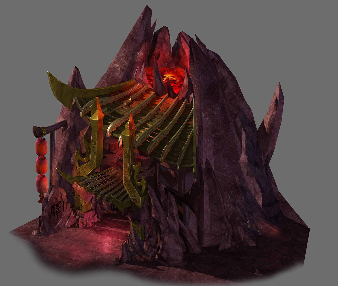 Game model - the house in the volcano