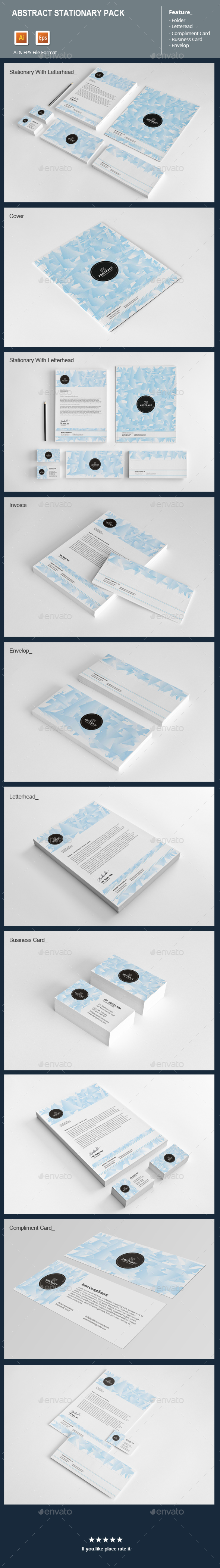 Abstract Stationary Pack - Stationery Print Templates