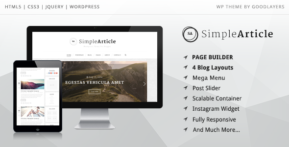Simple Article - WordPress Theme For Personal Blog nulled free download