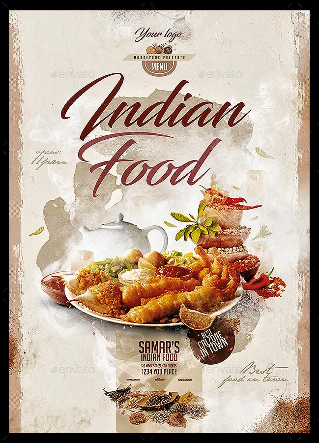 indian food menu by monkeybox