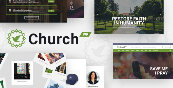 Image of ChurchWP - A Contemporary WordPress Theme for Churches