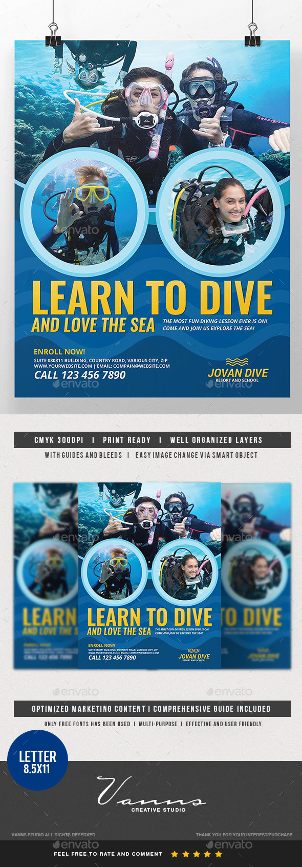 Diving Services Flyer - Commerce Flyers