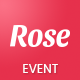Rose - Event Landing Page Template Nulled