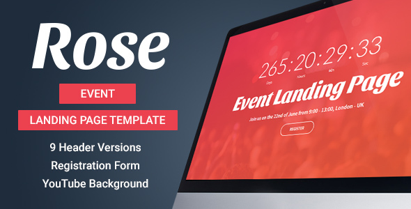 Rose – Event Landing Page Template