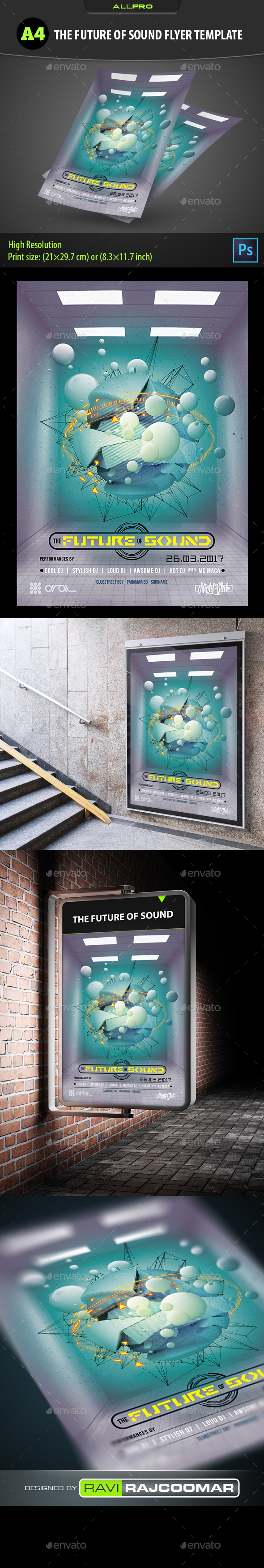 The Future Of Sound Flyer Template - Flyers Print Templates