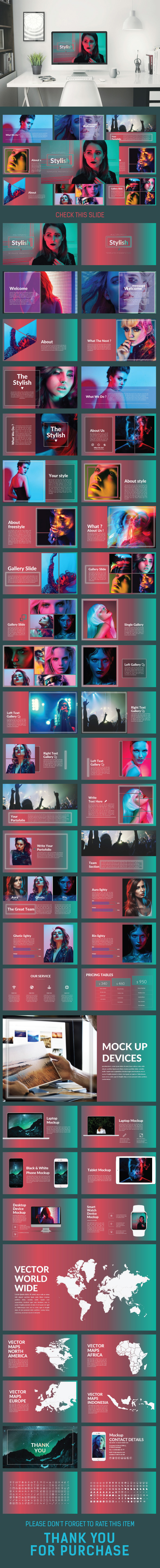 Stylish Power Point Template - Creative PowerPoint Templates