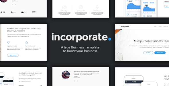 Incorporate – Multi-Concept Business Joomla Template