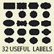 32 Useful Labels Photoshop Shapes - GraphicRiver Item for Sale