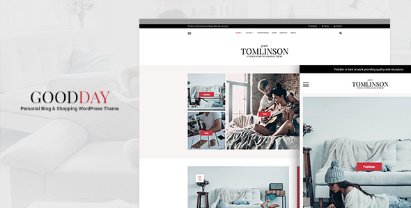 GoodDay – Personal Blog and WooCommerce WordPress Theme