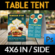 Restaurant Table Tent Template Vol.17 - GraphicRiver Item for Sale