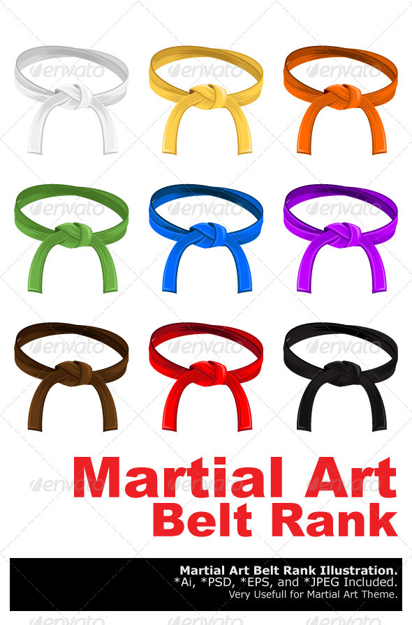 Martial Art Belt Rank System - Sports/Activity Conceptual