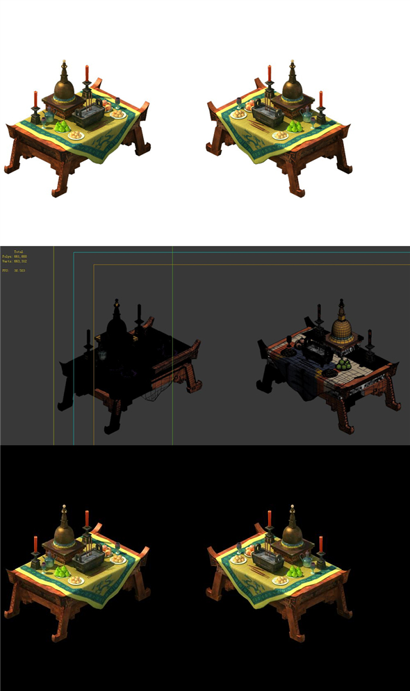 Game Model - altar table - 3DOcean Item for Sale