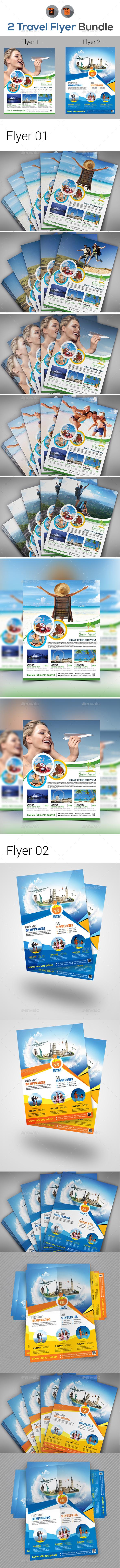 Tour & Travel Flyer Bundle - Holidays Events