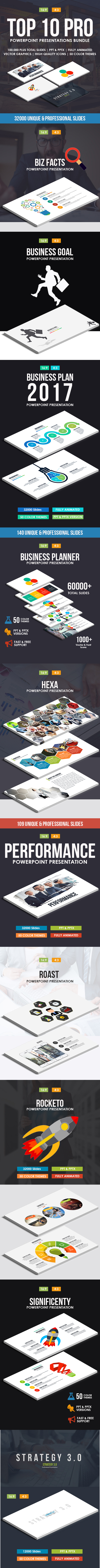 Top 10 IN 1 Pro Powerpoint Templates Bundle - Business PowerPoint Templates