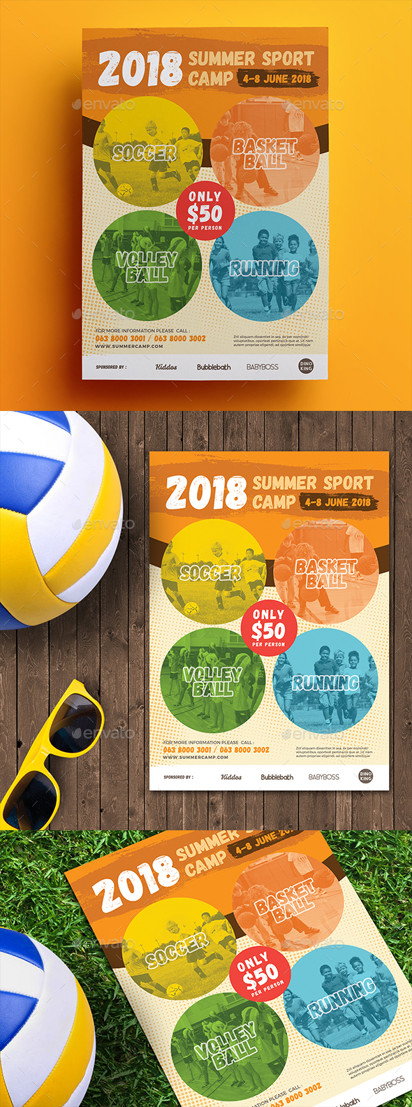 Summer Sport Camp Flyer 2 - Sports Events
