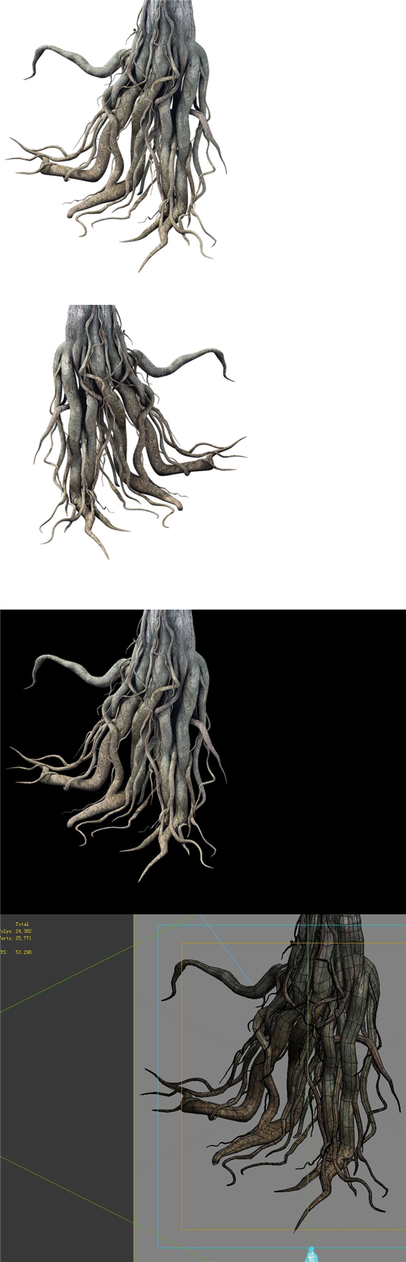 Game Model - Kaya Buddha Forest root - 3DOcean Item for Sale
