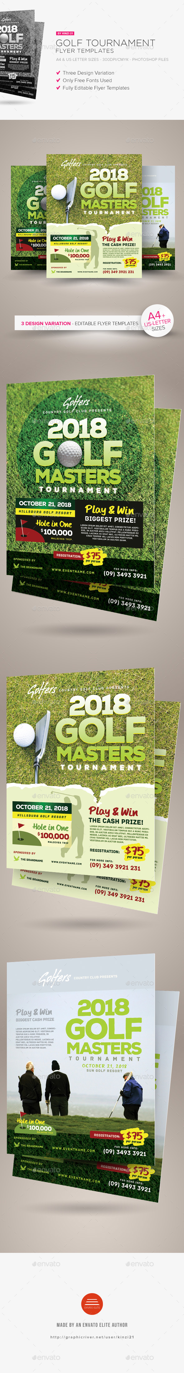 Golf Tournament Flyer Templates - Sports Events