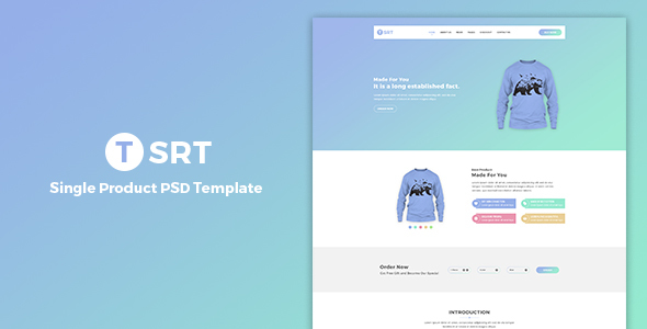 Tsrt – Single Product PSD Template