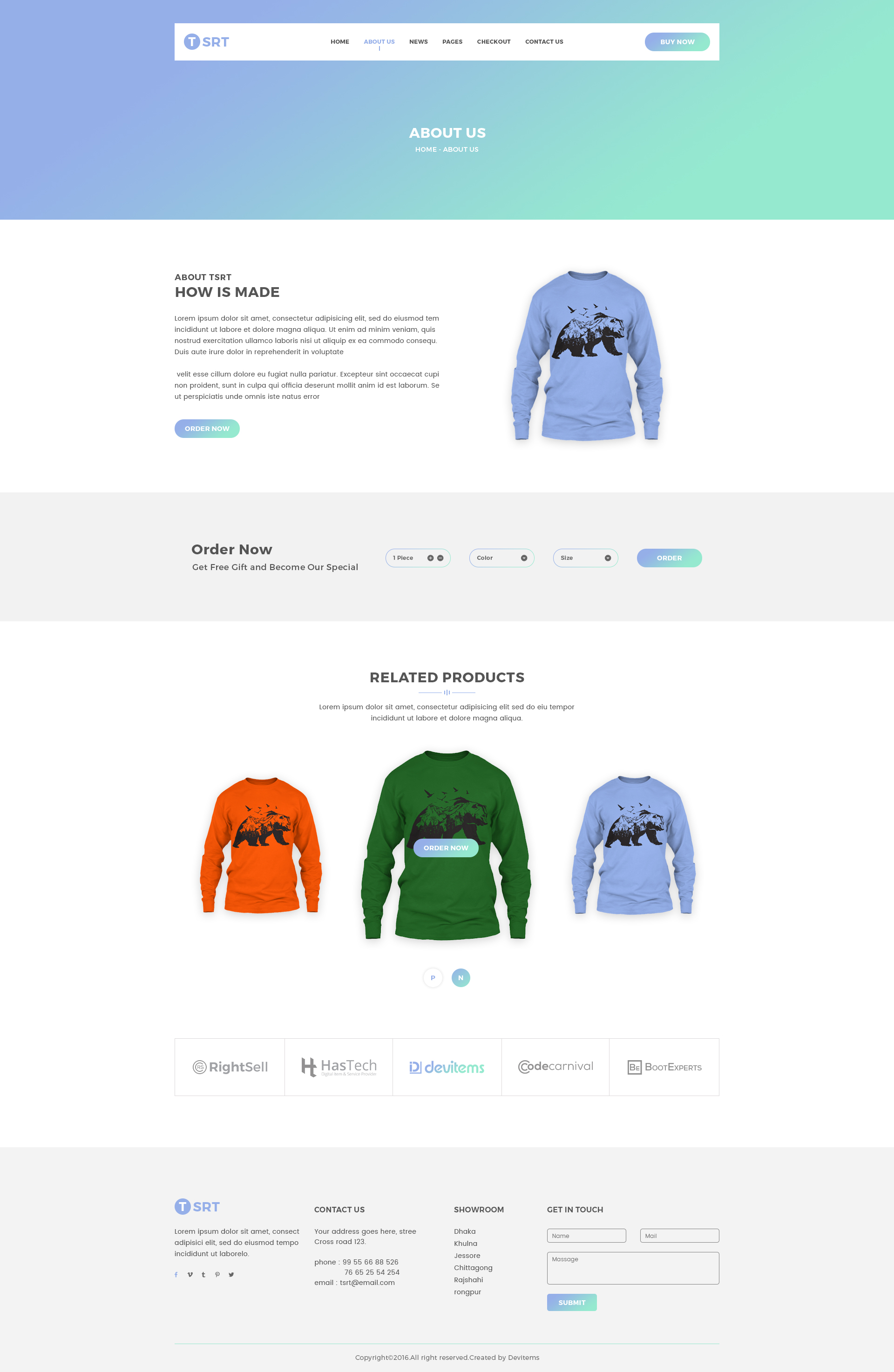 Tsrt Single Product Psd Template By Shopify Themes Themeforest