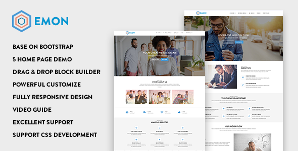 Emon - Responsive Business Drupal 8 Theme - Business Corporate
