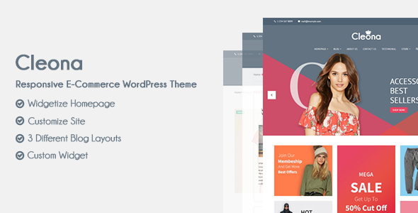Cleona – Responsive E-Commerce WordPress Theme
