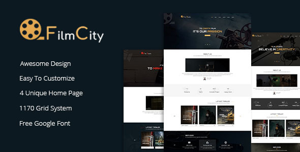 Film Studio - Movie Film Marketing HTML Template