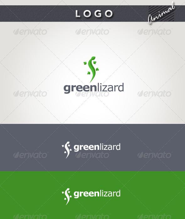 Green Lizard Logo - Animals Logo Templates