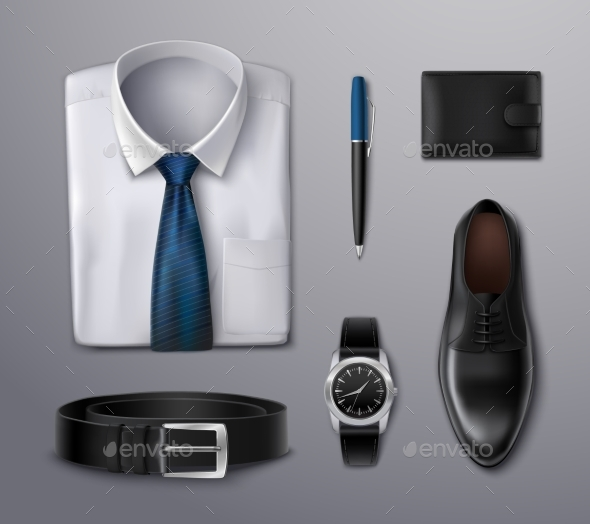 Businessman Apparel Accessories - Objects Vectors