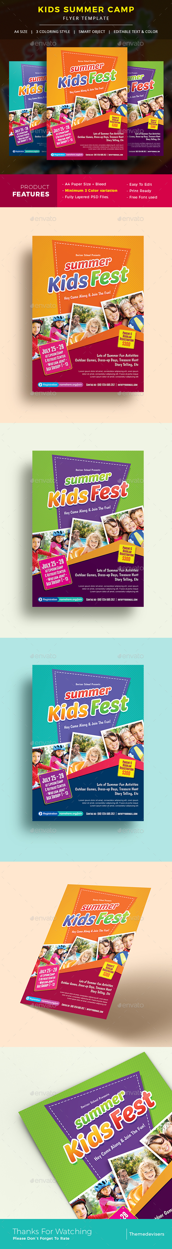 Kids Summer Camp Flyer - Corporate Flyers
