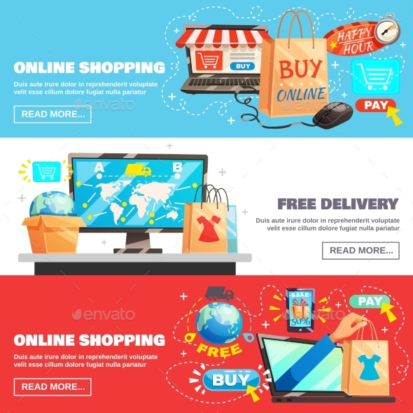 E-Commerce Banners Collection - Computers Technology