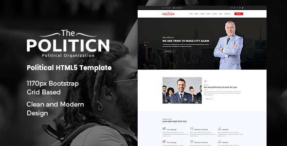 The Politicn – Political HTML Template - Political Nonprofit