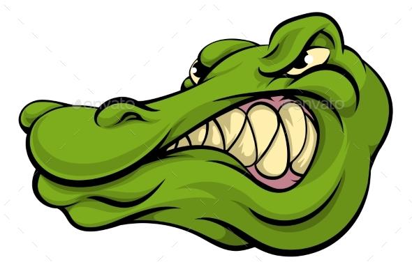 Alligator or Crocodile Mascot - Animals Characters
