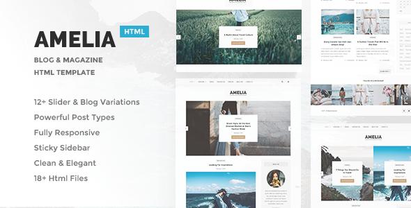Amelia – Minimal Blog & Magazine Template